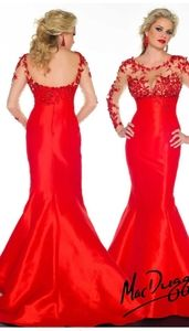 Mac Duggal Dresses - Mac Duggal illusion sleeve mermaid pageant dress